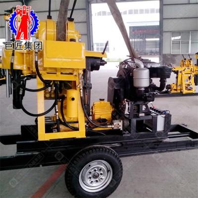 华夏巨匠牵引式打井设备200型水井钻机轮式钻井机