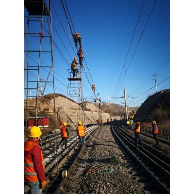 【恒龙】厂家直销·电气化铁路钢制梯车接触网检修金属钢管梯车