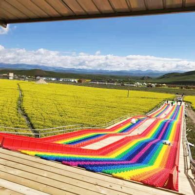 游乐场所必备七彩滑道 变现能力强彩虹滑道设计规划
