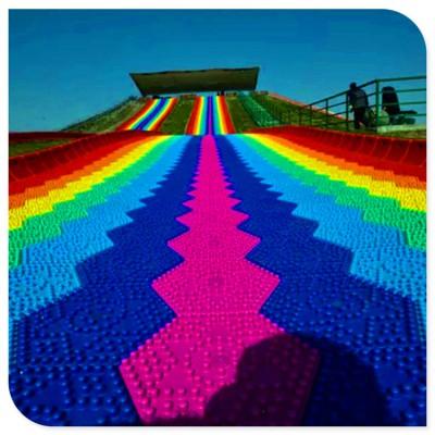 景区彩虹滑道 网红七彩滑道 厂家提供现场勘测