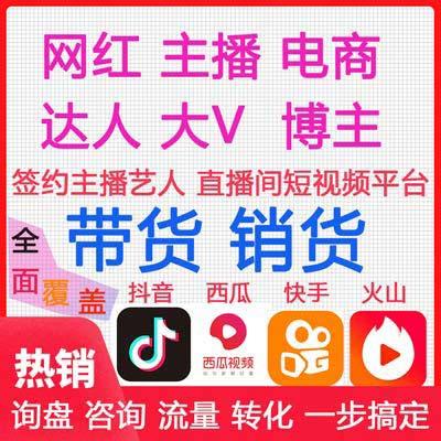 网红双十二档期已排,ROI专场保量带货模式,实力网红主播卖货