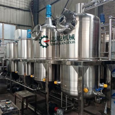 油坊精炼机 花生油榨油设备 一级茶籽油精炼机 超市食用油设备