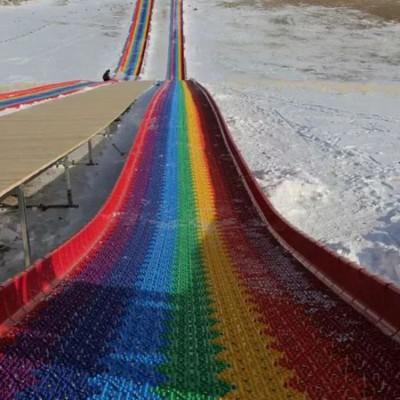 网红滑道 景区必备游乐项目 20新品彩虹滑道多人竞速滑道