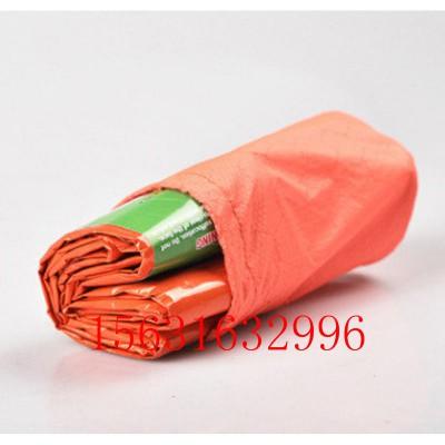 pe铝膜保温防风睡袋应急睡袋橙色急救隔热睡袋多用防潮垫
