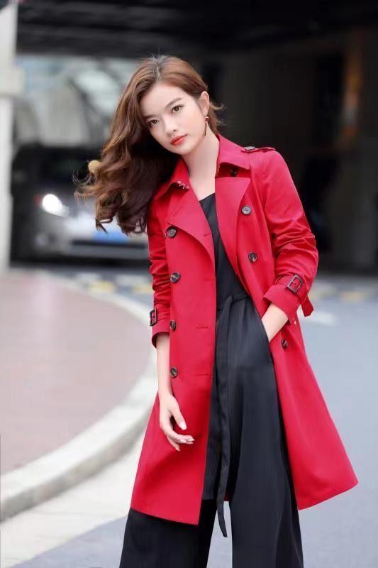 高定品牌女装工厂尾货 秋季女式外套 风衣批发
