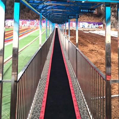 陕西旅游景区魔毯传送带建设流程 飞天魔毯游客爬山输送机