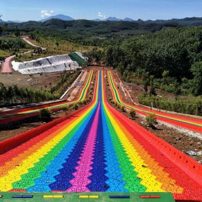 彩虹滑道好玩又刺激 高人气七彩滑道 小朋友玩了不想回家