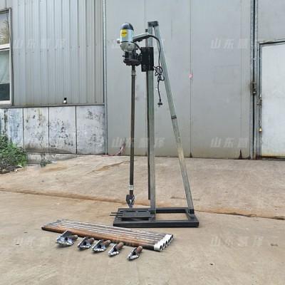 慧泽小型打井机器 手摇式电动打井机 咱老百姓用的水井钻机