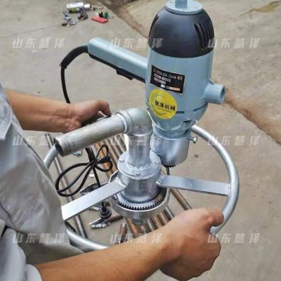 供应小型打水井钻机 手扶式1500W打井机 小型庭院打井机