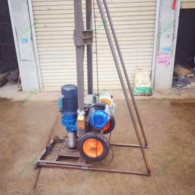供应钻井机设备 两相电的小型打井钻机 三脚架稳定型打井机