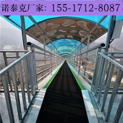 大型景区载人爬坡输送机设备 输送带搭建钢结构安装