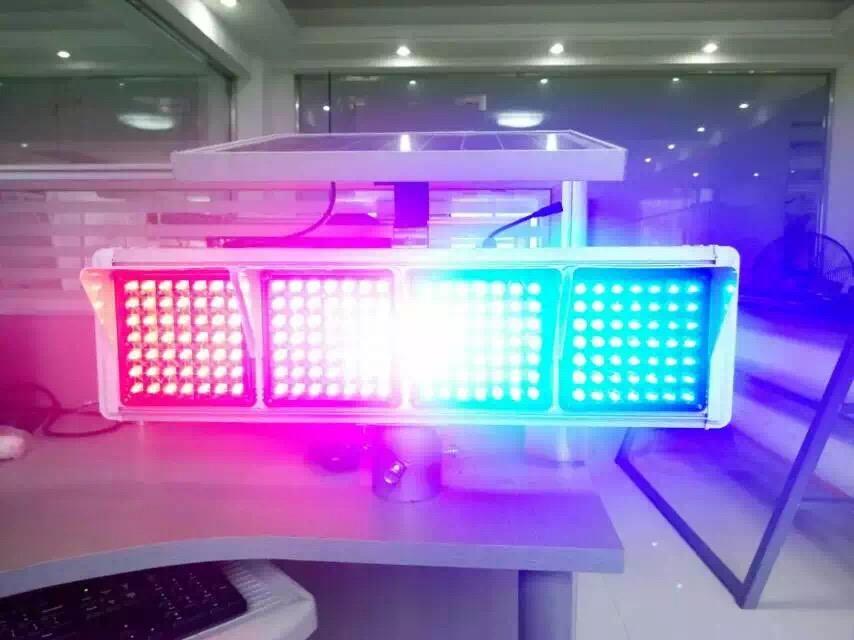 骧虎392颗灯珠大太阳能爆闪灯红蓝太阳能爆闪灯高速专业