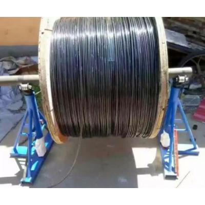 棘轮式三角放线架光钎光缆液压升降放线器放线盘3吨