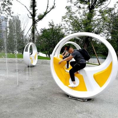 富锦脚踏式健身喷泉的安装视频 山东三喜